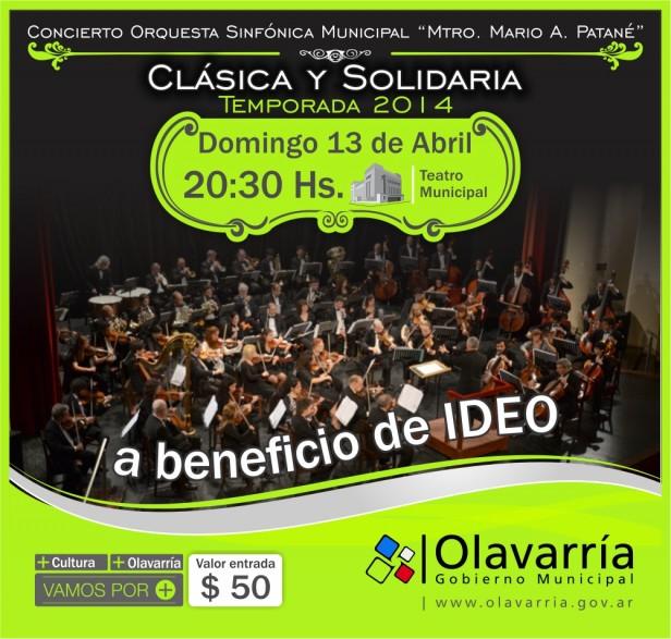 """El primer concierto de """"Clásica y Solidaria"""" será para IDEO"""
