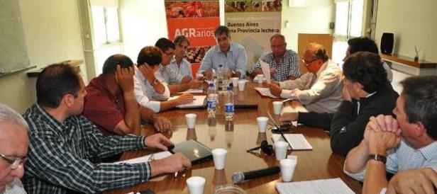 El Gobierno bonaerense recibió a la Mesa Lechera Nacional