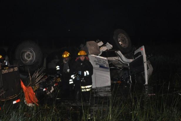 Transito liberado en Las Flores tras el accidente: un fallecido