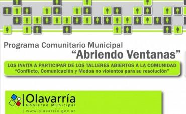 """""""Abriendo Ventanas"""": Talleres """"Conflicto, Comunicación y Modos no violentos para su resolución"""""""