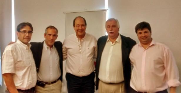 Cladera y Cominotto estuvieron con Ernesto Sánz