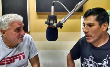 Ricardo Rojas con el 'Tano' antes de viajar a Italia