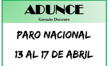 ADUNCE ratifica el paro