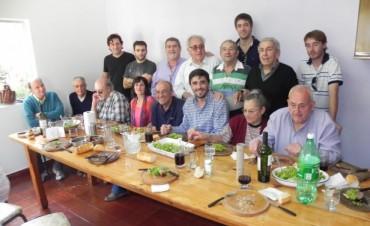 Ezequiel Galli compartió un almuerzo con radicales