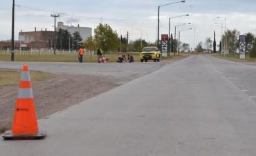 Comenzaron los trabajos de demarcación vial en accesos a la ciudad