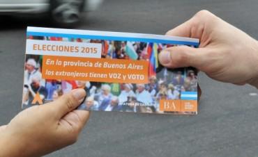 Provincia lanzó campaña para el voto de extranjeros