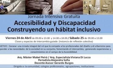 """Primera Jornada Accesibilidad y Discapacidad """"Un hábitat Inclusivo"""""""