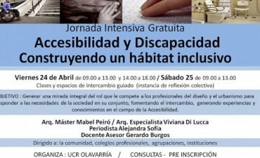 """Primera Jornada, Accesibilidad y Discapacidad """"Un hábitat Inclusivo"""""""