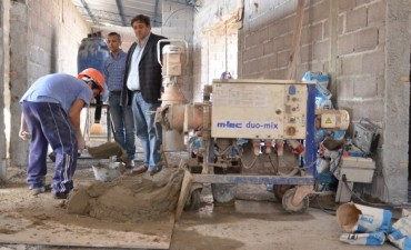 Obras en la futura sede del Servicio Territorial Municipal en el Barrio Villa Mailin