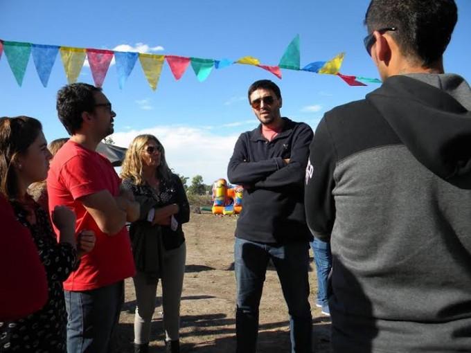 Galli participó de una Jornada Recreativa en el barrio La Araña