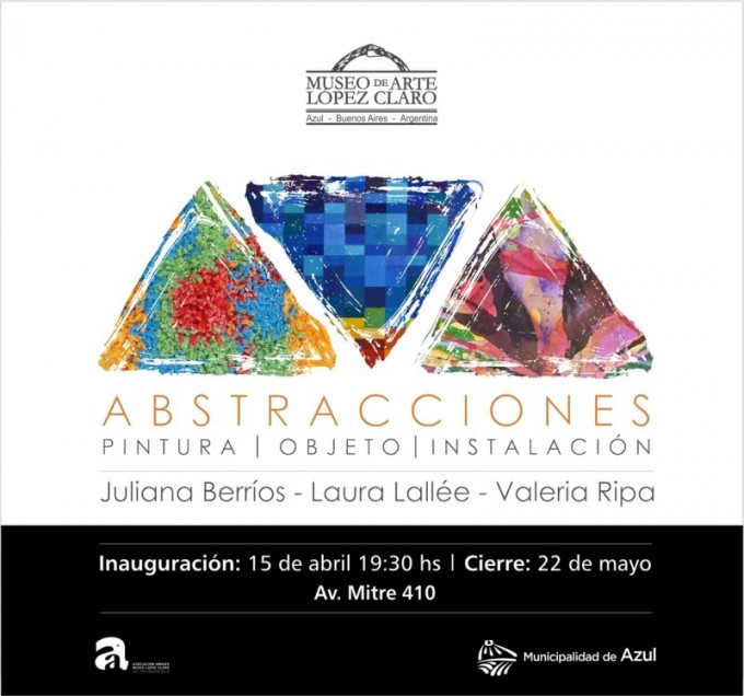 """Azul: se inaugura """"Abstracciones"""" en el López Claro"""