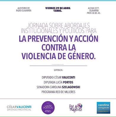 La Diputada Portos dará una charla sobre violencia de género