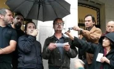 Manifestación por Cultura: se realizó una intervención y marcharon hasta la Sociedad Española