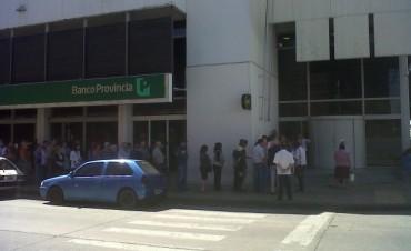 Paro de trabajadores del Banco Provincia