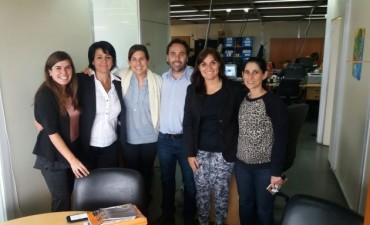Funcionarios municipales de la Dirección de Turismo en La Plata