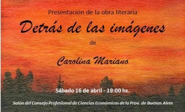 Carolina Mariano presenta su libro este sábado