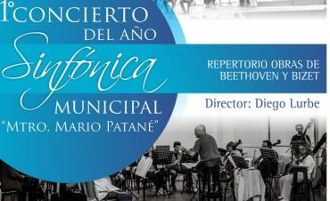 Este domingo será el primer concierto del año de la Sinfónica Municipal