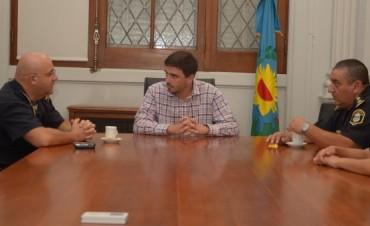 El intendente Galli recibió al Comisario Mario Busto