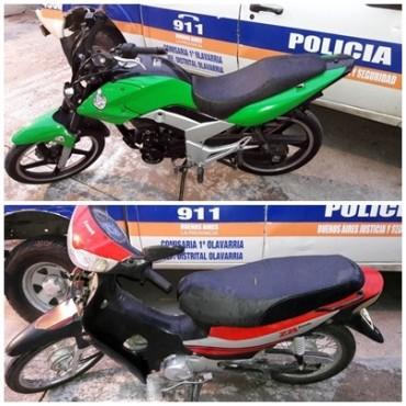 Recuperan dos motos que habían sido robadas