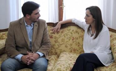 El Intendente Galli fue recibido por la Gobernadora Vidal