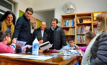 Mosca, Salamanco y Criado recorrieron instituciones de Bolívar, Pirovano y Urdampilleta
