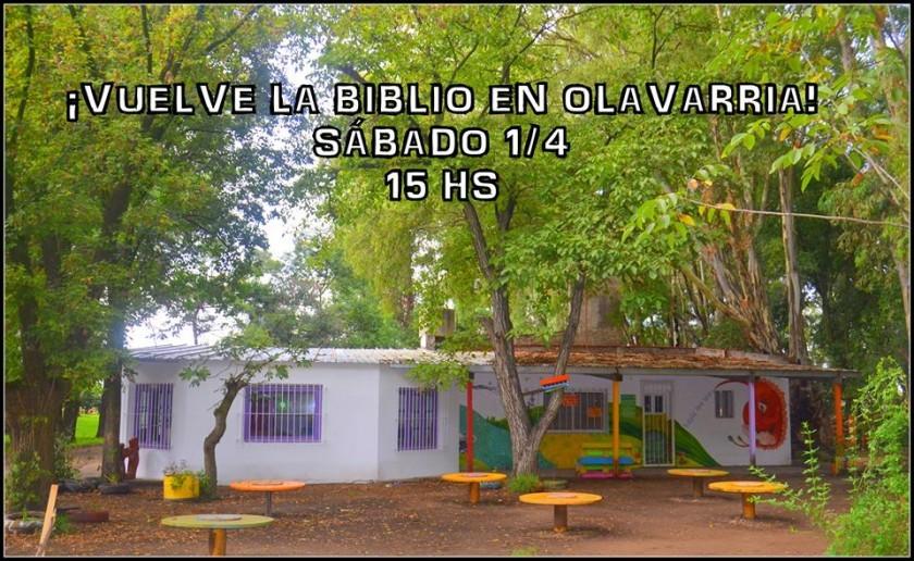Vuelve la biblio en Olavarría