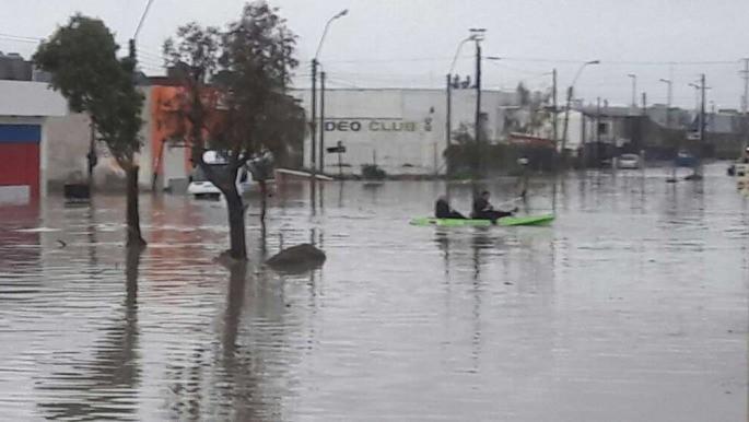Comienza la colecta por los inundados de Comodoro Rivadavia