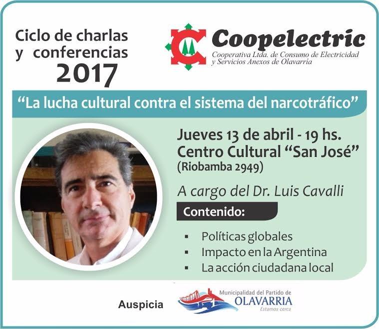 """Coopelectric Informa: charla sobre el tema """"Lucha cultural contra el sistema del narcotráfico""""."""
