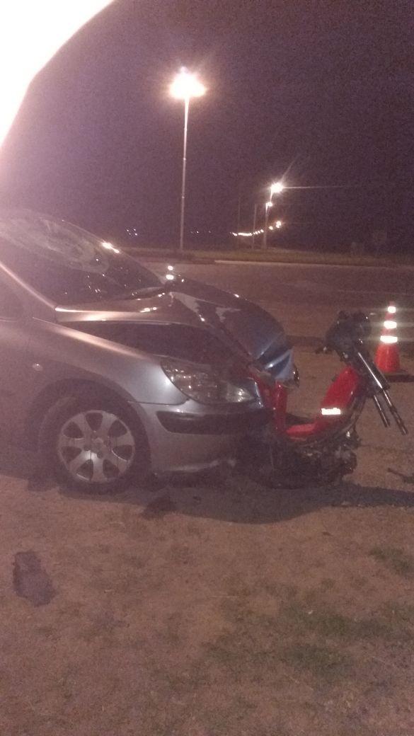 Motociclista murió atropellado