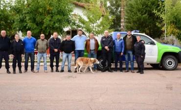 Galli entregó patrulleros en localidades rurales