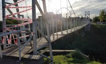 Un puente colgante más a reparación