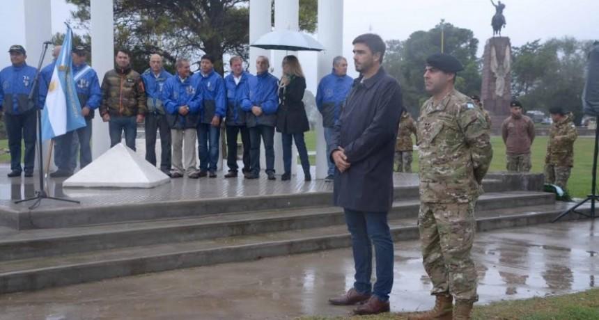 Homenaje en Olavarría, por el Día del Veterano y de los Caídos en la Guerra de Malvinas