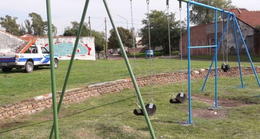 En el barrio CECO se realizaron mejoras en distintas plazas