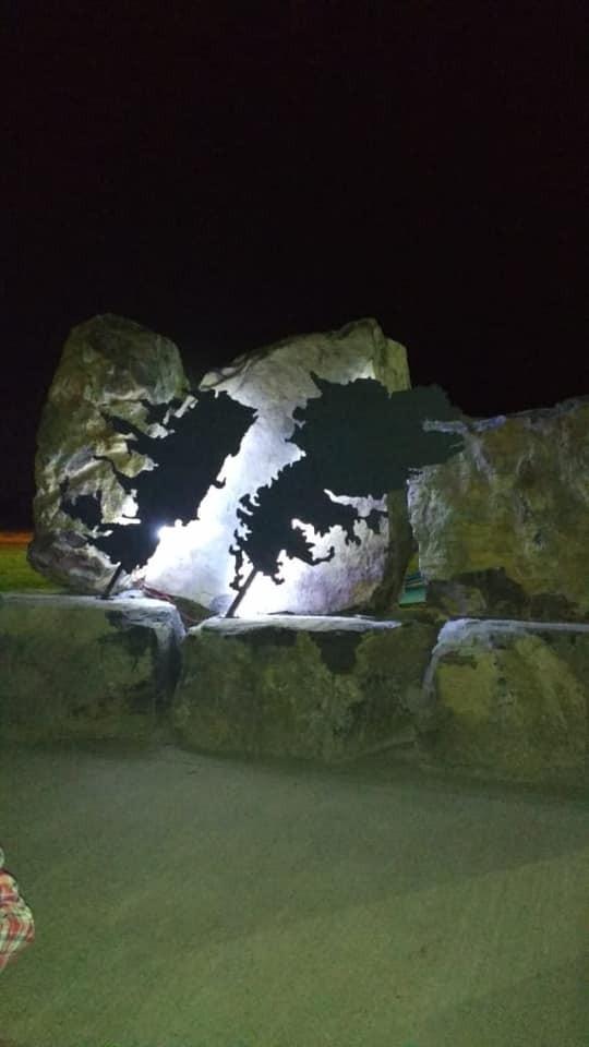 Quedó inaugurado el monumento a los veteranos en Loma Negra