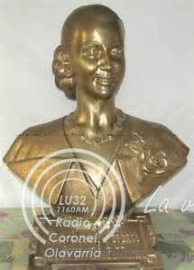 En mayo quedaría restituido el busto de Eva Perón en Pringles y Del Valle