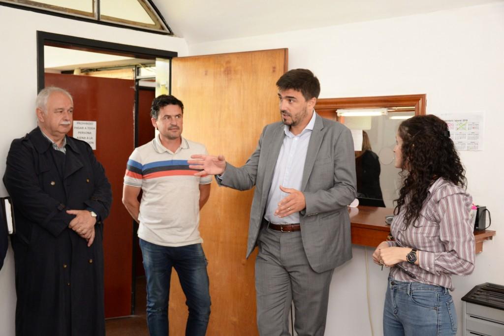 El intendente visitó Loma Negra