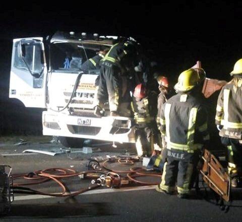 Las Flores: Murió camionero olavarriense herido en choque