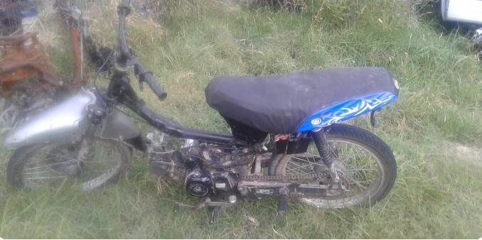 Secuestran motocicleta por numeración limada