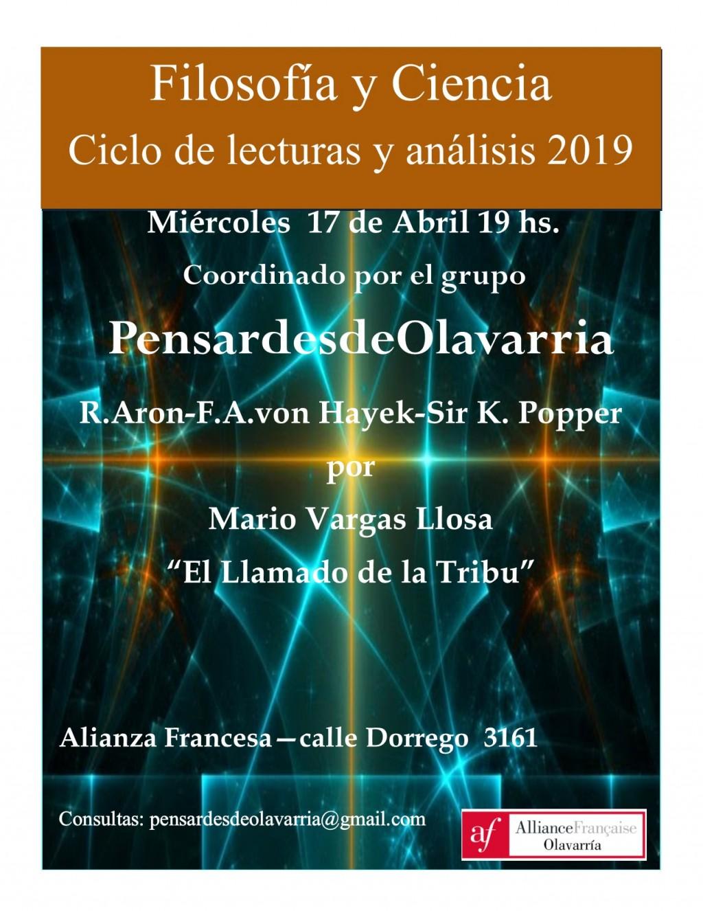 Filosofía y Ciencia: continúa el ciclo de lectura y análisis en la Alianza Francesa