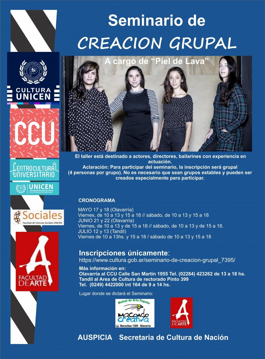 Seminario de Creación Grupal en el Centro Cultural UNICEN