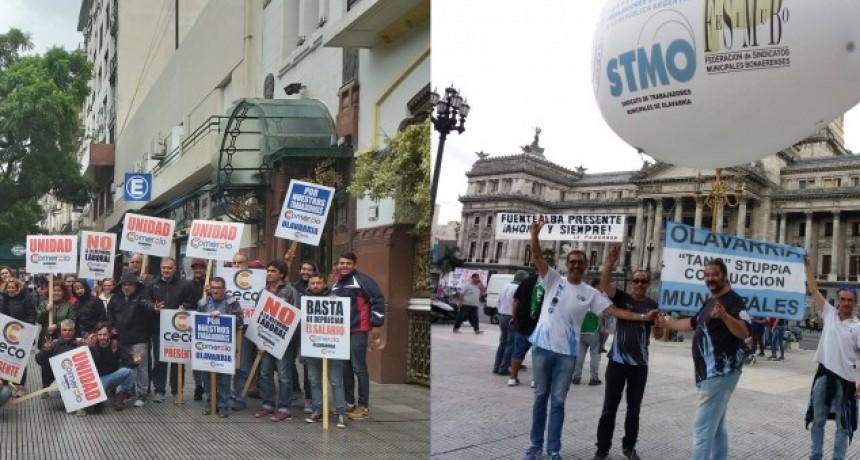 Olavarrienses participaron de la movilización gremial del jueves
