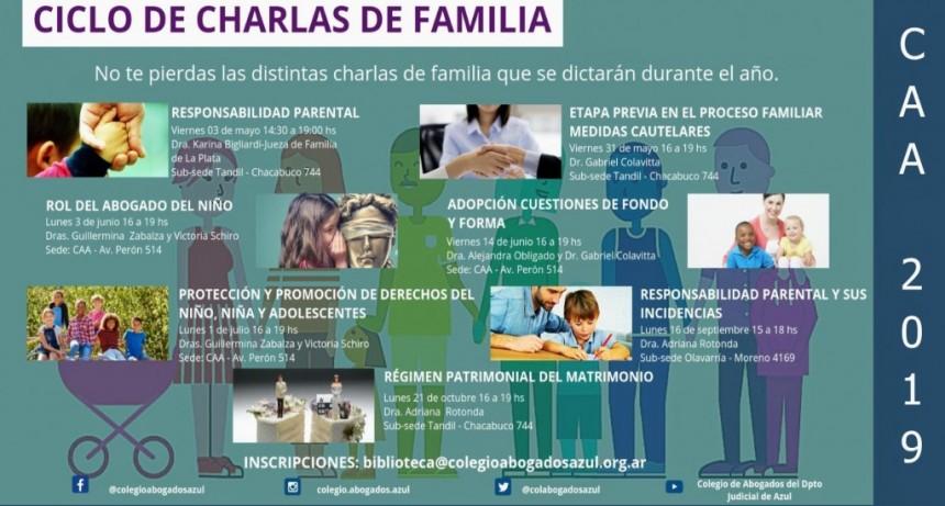 El 3 de mayo comenzará el Ciclo de Charlas de Familia