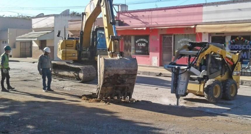 Sierras Bayas: obras en la Avenida San Martín complican el tránsito pesado y peatonal