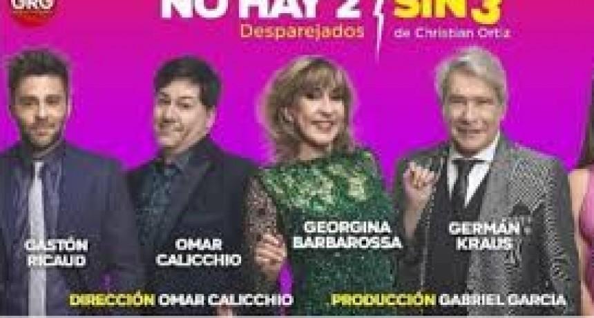 """Este viernes desembarca """"No hay 2 sin 3"""" en el Teatro Municipal"""