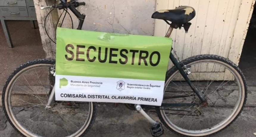 Recuperan bicicleta robada