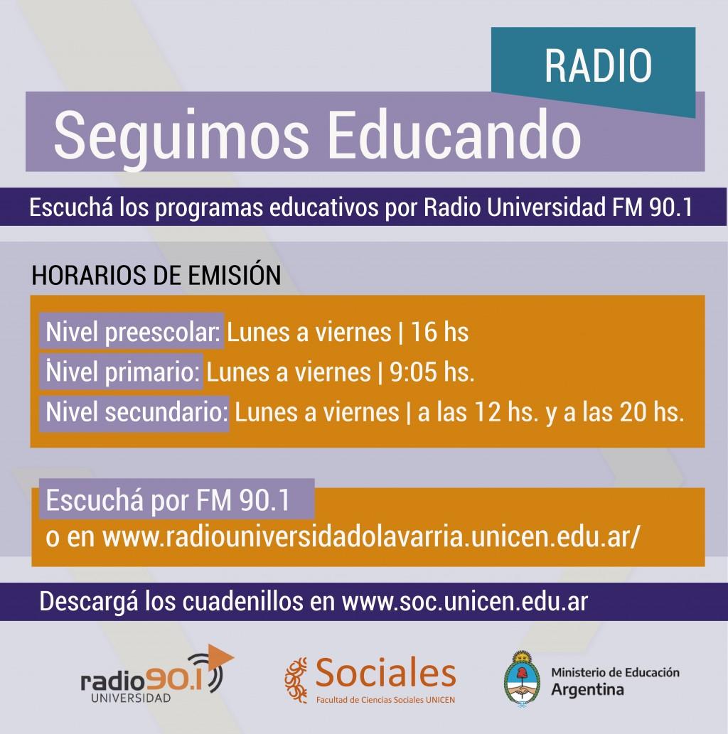 Radio Universidad Olavarría se suma al programa 'Seguimos Educando'