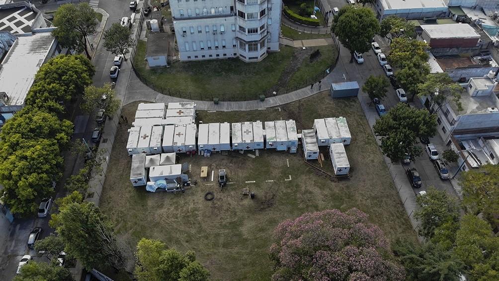 La Fuerza Aérea instaló un hospital reubicable en Pompeya para atender pacientes con coronavirus