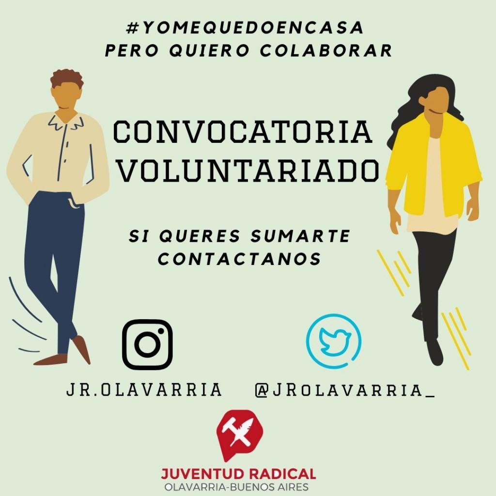 La Juventud Radical convoca a un voluntariado