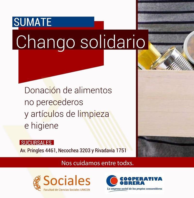 La FACSO organiza la Campaña Chango Solidario junto con la Cooperativa Obrera