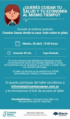 Banco Macro amplía las capacitaciones virtuales del programa Cuentas Sanas